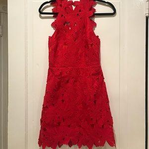 Red Free People Mini Dress